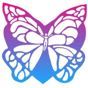 Body in the middle of a butterfly